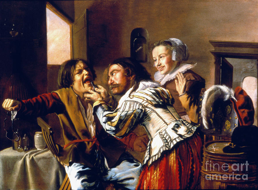 1629 Photograph - The Dentist, 1629 by Granger