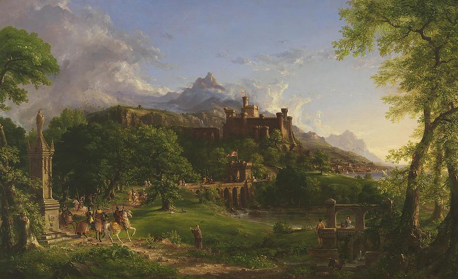 Landscape Painting - The Departure by Thomas Cole