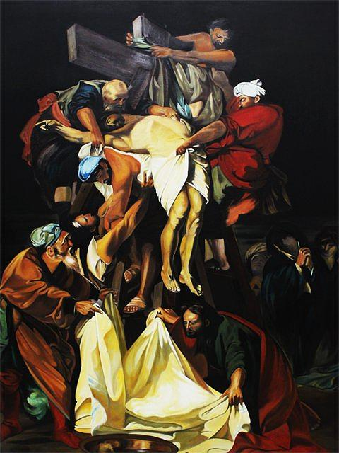 Religion Painting - The Descent From The Cross by Isaac Romero