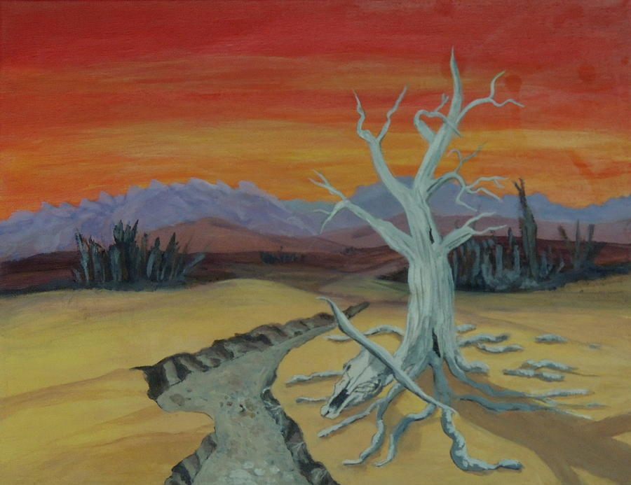 Landscape Painting - The Desert by Lisa MacDonald
