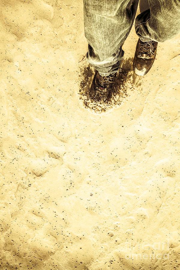 Walking Photograph - The Desert Wanderer by Jorgo Photography - Wall Art Gallery