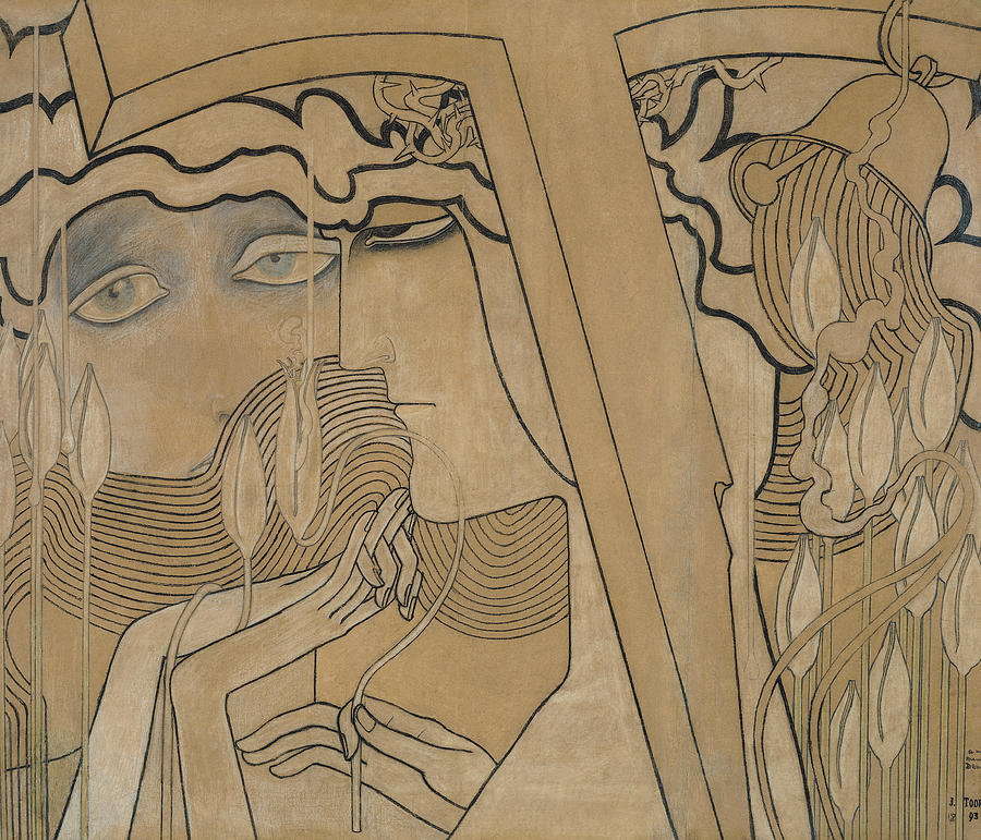 Jan Pastel - The Desire And The Satisfaction by Jan Theodore Toorop