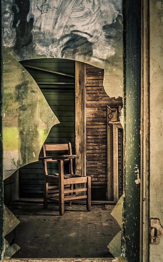 School Desk Photograph - The Desk by Phillip Burrow