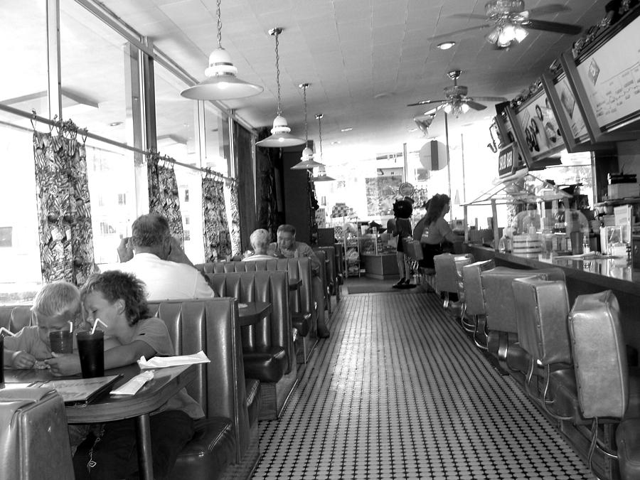 Diner Photograph - The Diner by Wayne Potrafka