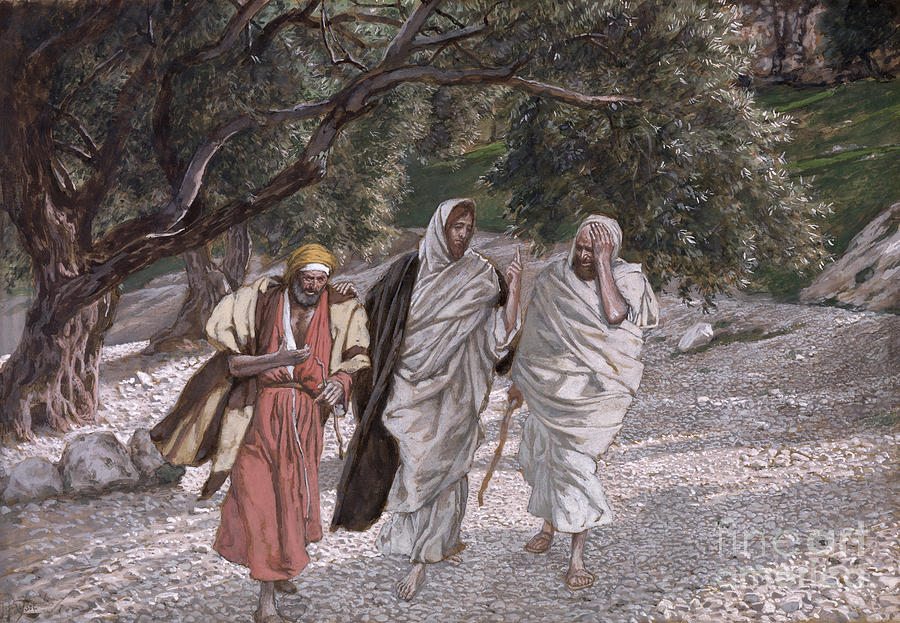The Painting - The Disciples On The Road To Emmaus by Tissot