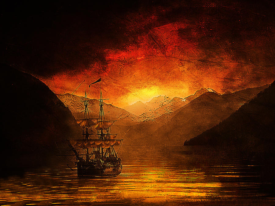 Ship Photograph - The Discovery by Jeff Burgess