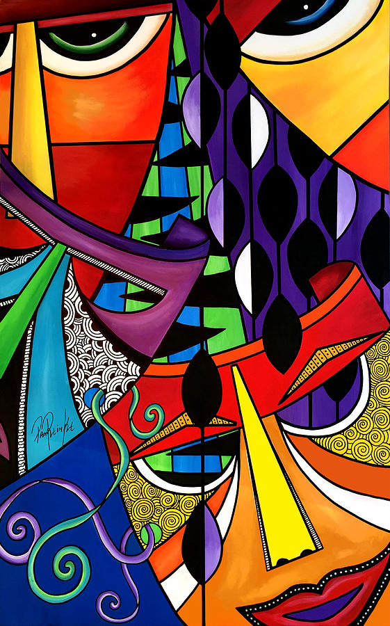 Tribal Painting - The Disguise by Pam Reinke