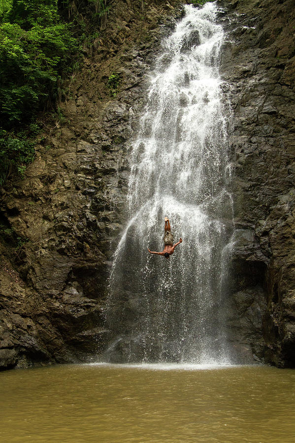 Costa Rica Photograph - The Dive // Montezuma Waterfalls, Costa Rica by Kirsten Dale