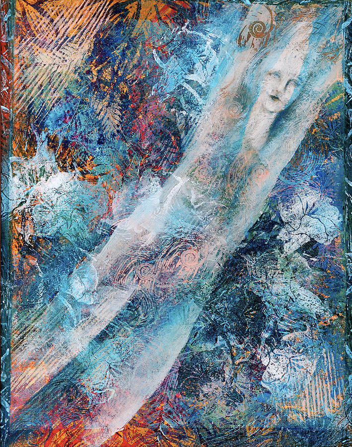 Mystical Painting - The Diver by Sue Reed