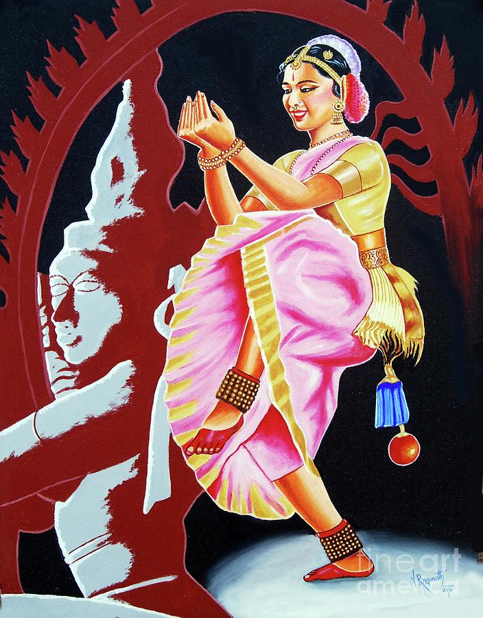 bharatanatyam dance painting - photo #7