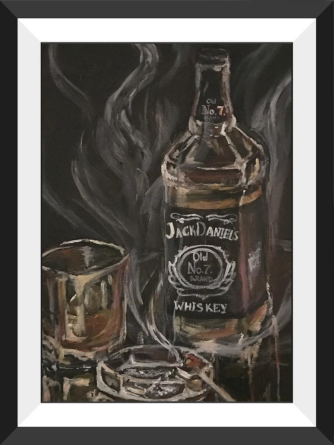 Whiskey Photograph - The Divorcee by Ekaterina Druzhinina