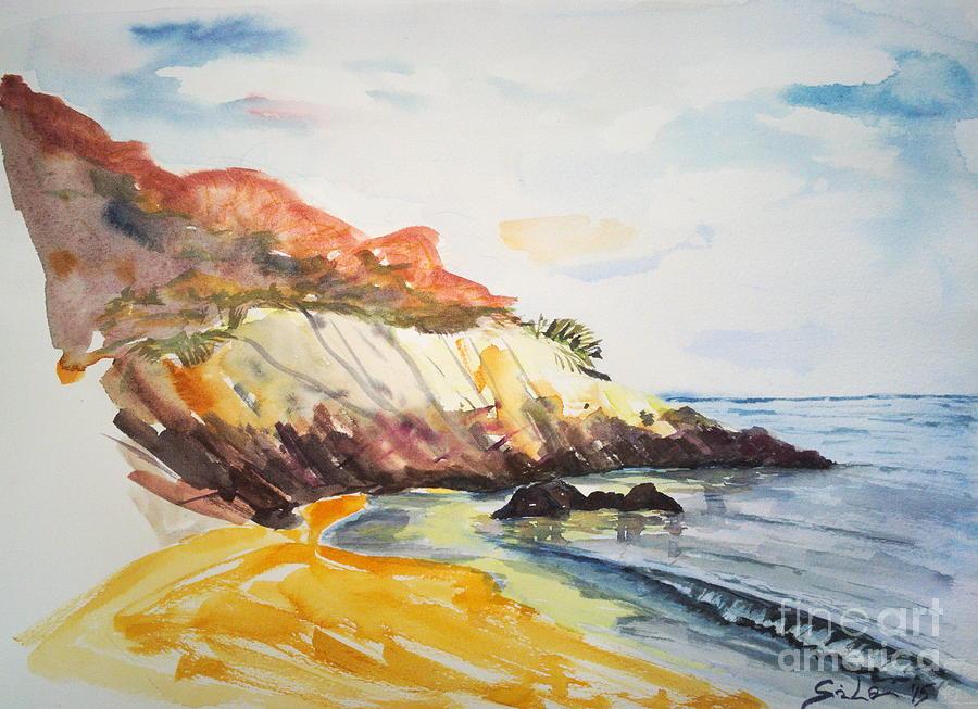 Beach Painting - The Dock Beach by Lidija Ivanek - SiLa