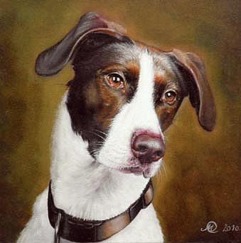 The Dog Painting by Sasa Milojkovic