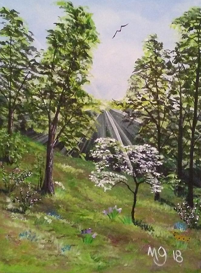 The Dogwood Tree Painting By Mindy Gibbs