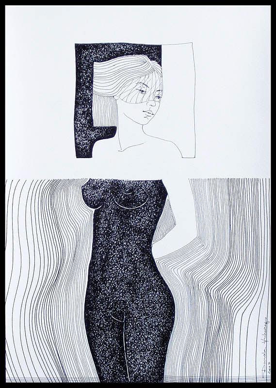 Girl Drawing - The Doll by Daniela Huhurez