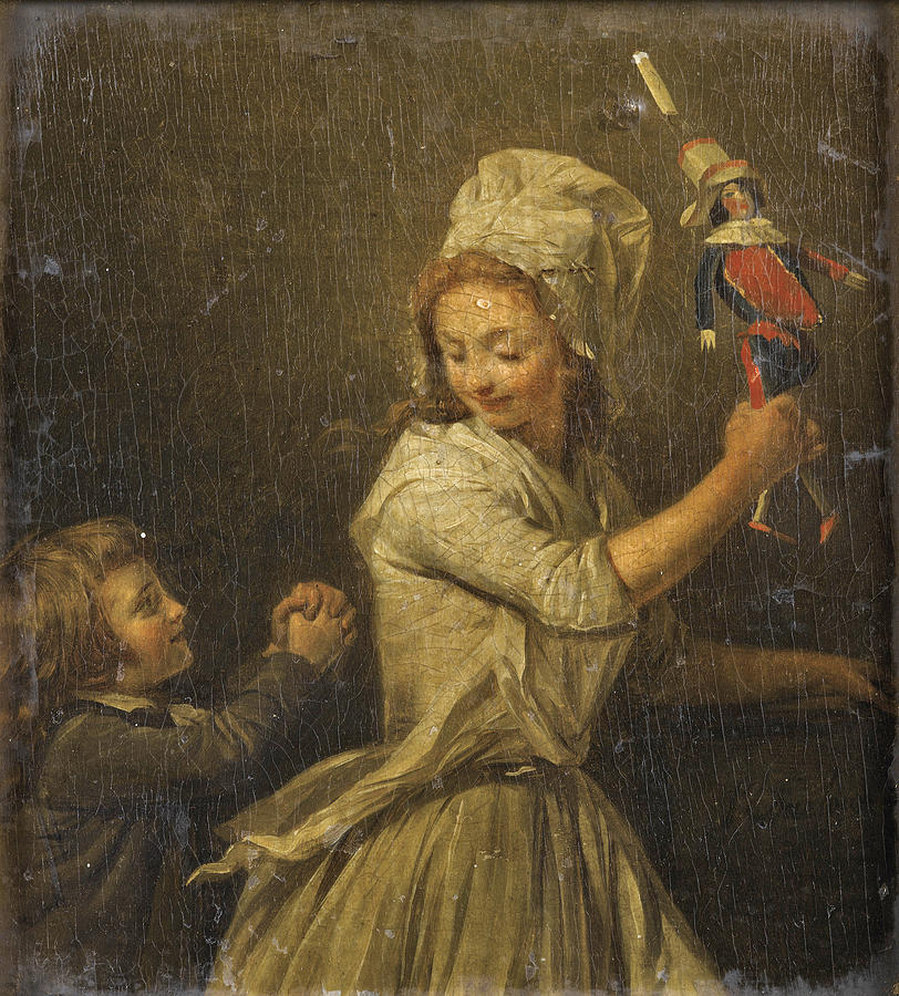 Henri-pierre Danloux Painting - The Doll by Henri-Pierre Danloux