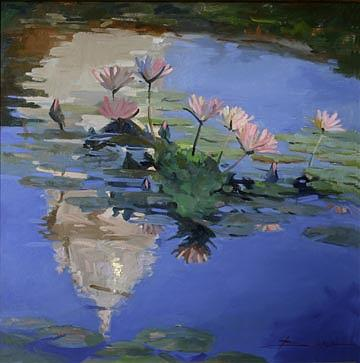 Water Lilies Painting - The Dome by Billups Fine Art
