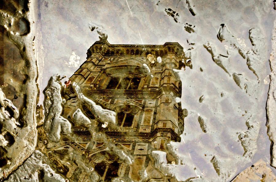 Florence Photograph - The Dome In The Puddle by Wolfgang Stocker