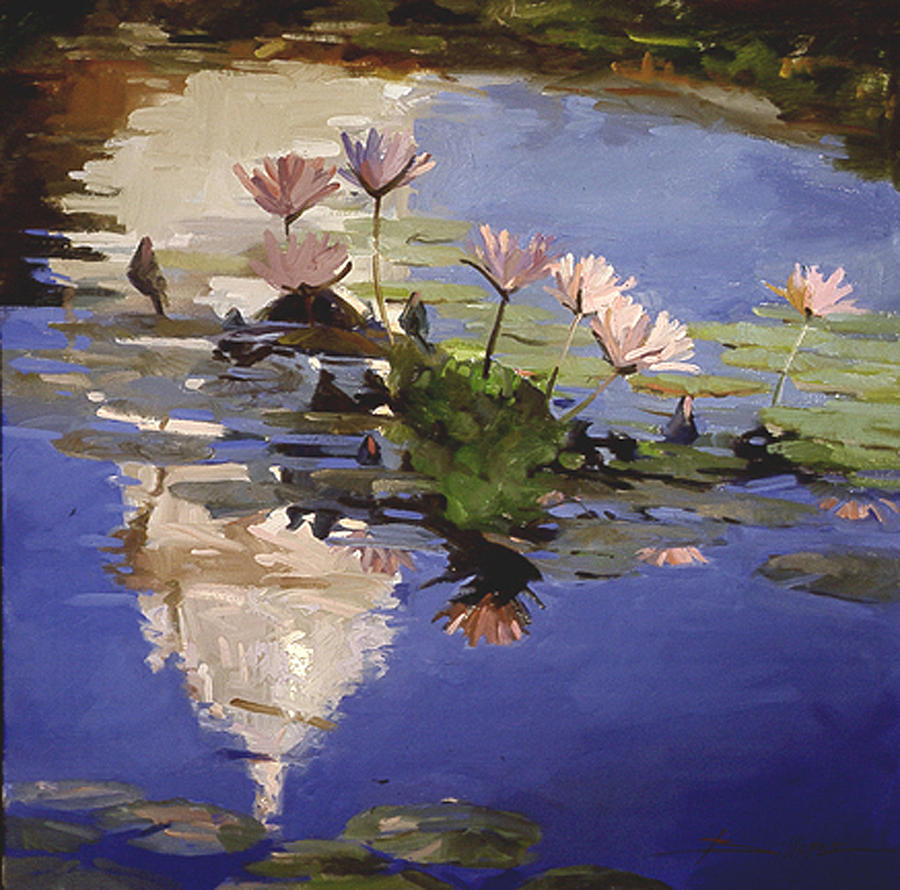 Water Lilies Painting - The Dome - Water Lilies by Betty Jean Billups