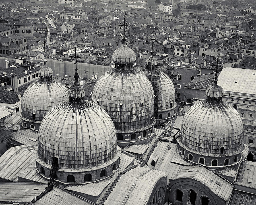 The Domes of San Marco, Venice, Italy by Richard Goodrich