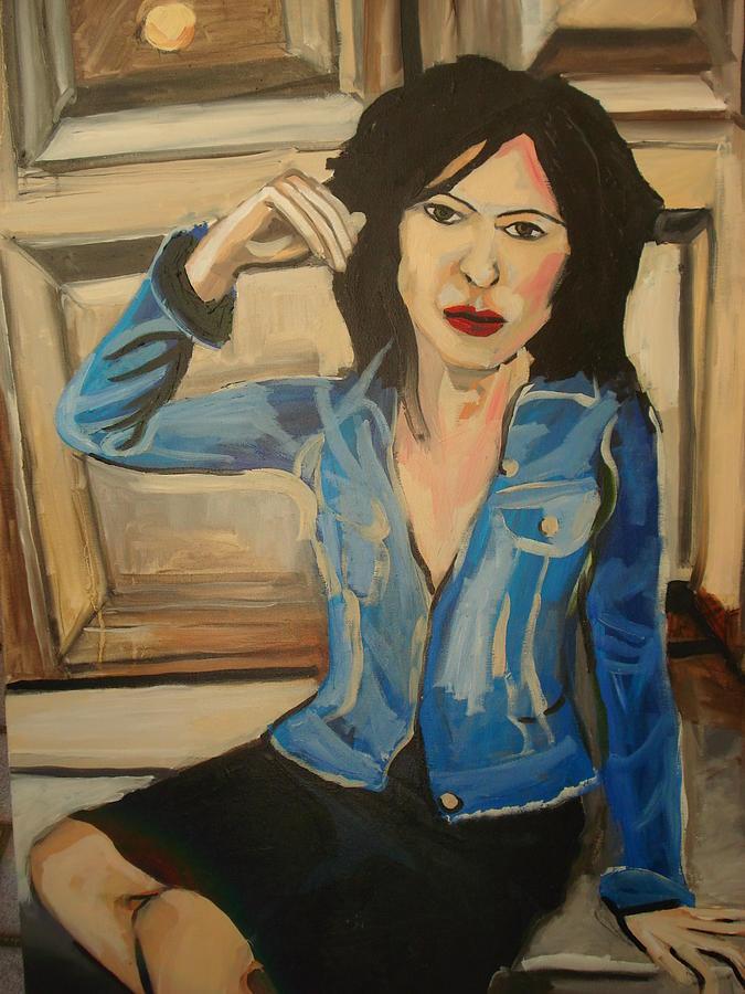Girl Painting - The Door by Henry Beer