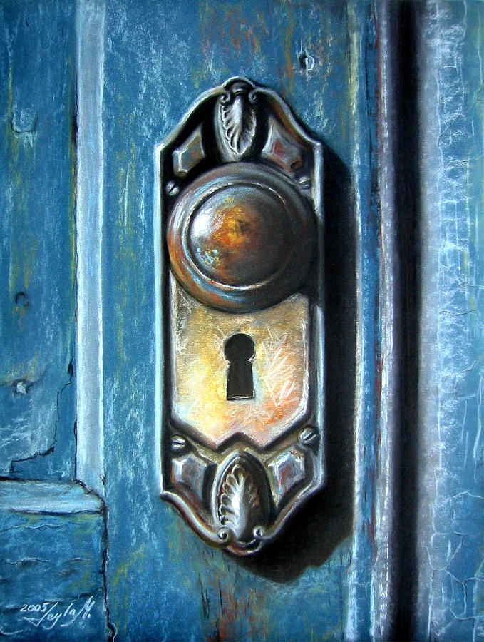The Door Knob Painting by Leyla Munteanu