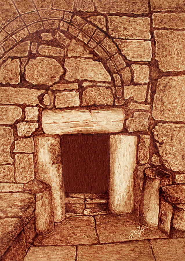 The Door Of Humility At The Church Of The Nativity Bethlehem Painting by Georgeta Blanaru