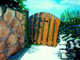 The Door To My Garden Painting by Yasemin Raymondo