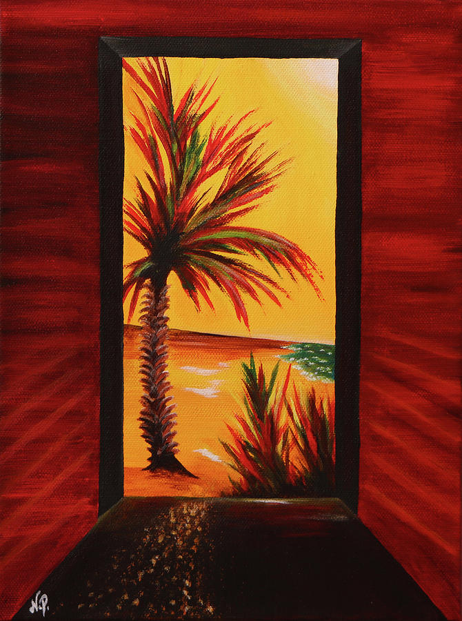 Fantasy Painting - The Doorway by Nicole Paquette