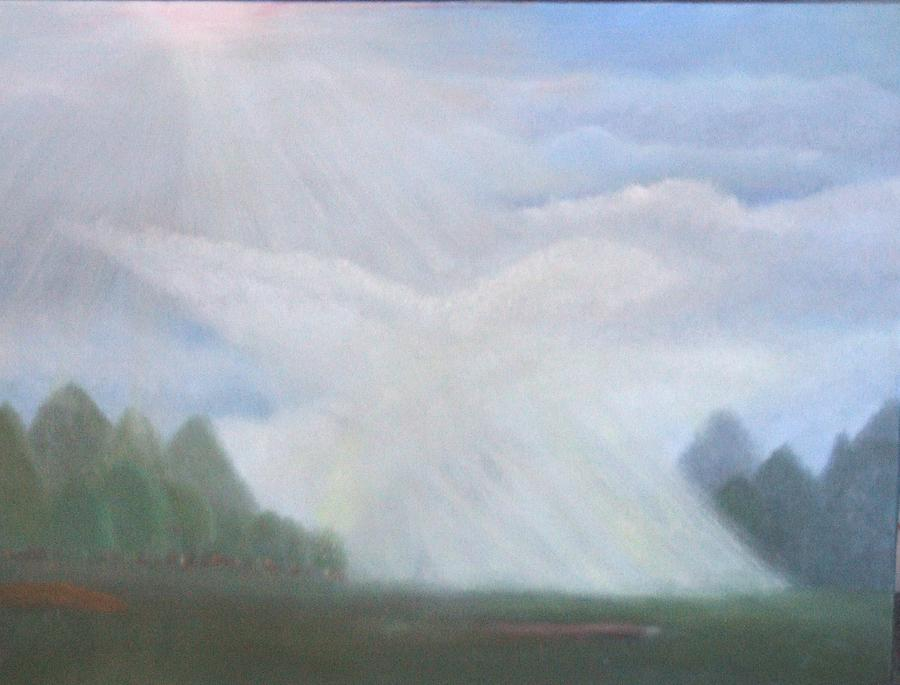 Doves Painting - The Dove Cloud by Rana Adamchick