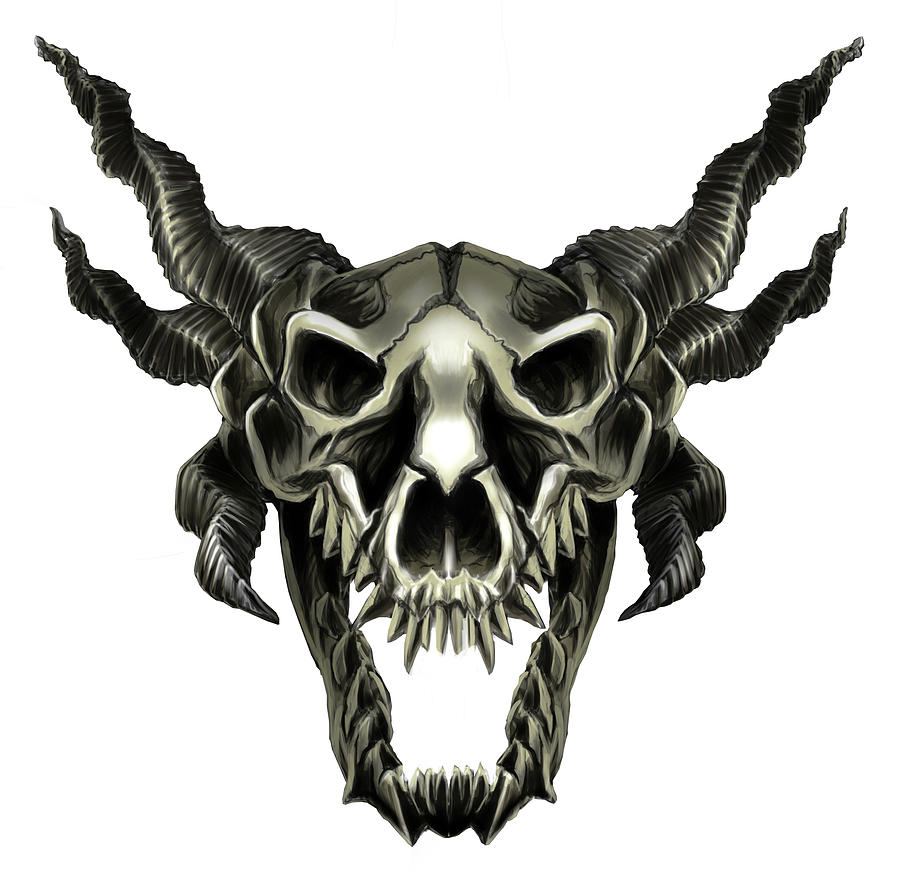 The Dragon Skull Digital Art By Zyad Kadri #sculpture #ceramics #dragon #dragon skull #bone time #she lived a good life #yes i gave her a full i've done a pearlcatcher and ridgeback skull so far so there's just snapper and spiral left before. the dragon skull by zyad kadri