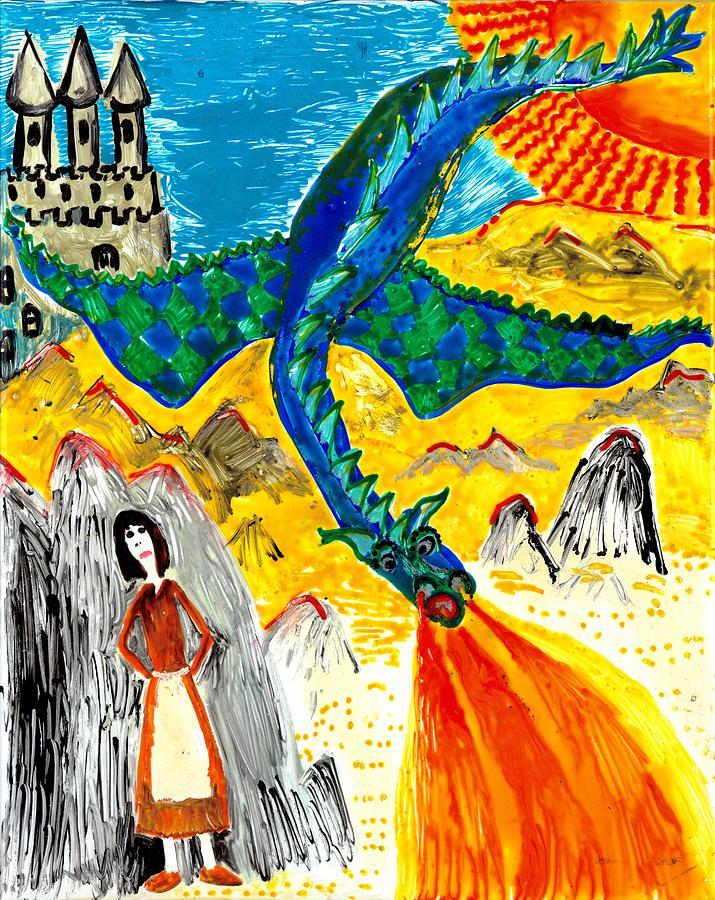 Sue Burgess Painting - The Dragon by Sushila Burgess