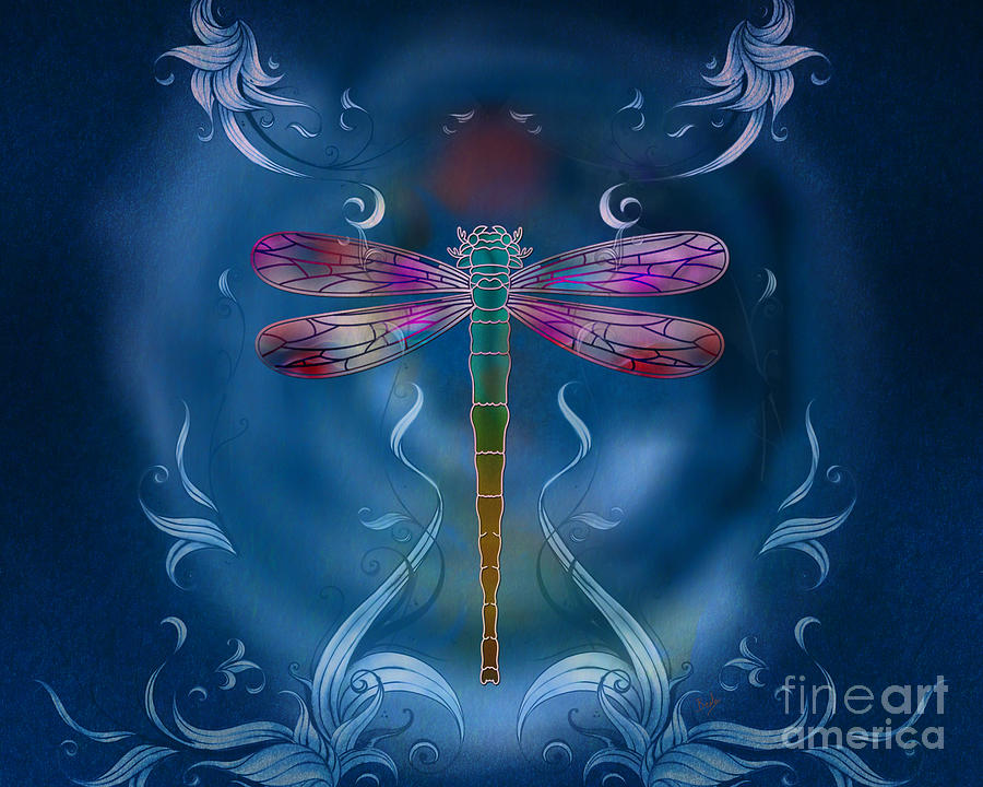 Dragonfly Digital Art - The Dragonfly Effect by Peter Awax