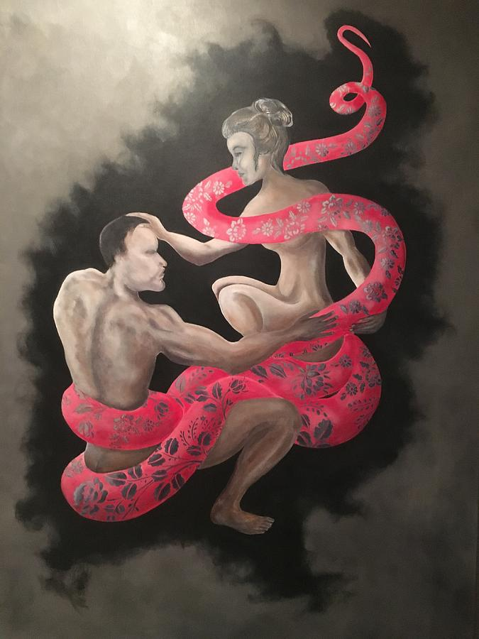 Snake Painting - The Dream by Ron Tango Jr
