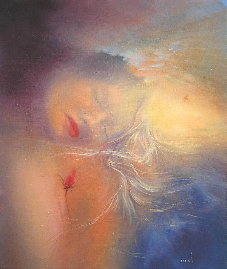 The Dream With Continuation Painting by Roman Velichko