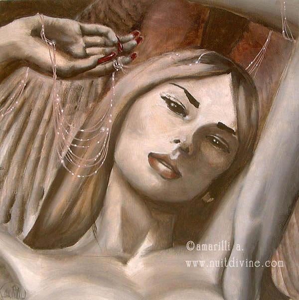 Dark Painting - The Dreamcatcher by Amarilli Arenosto