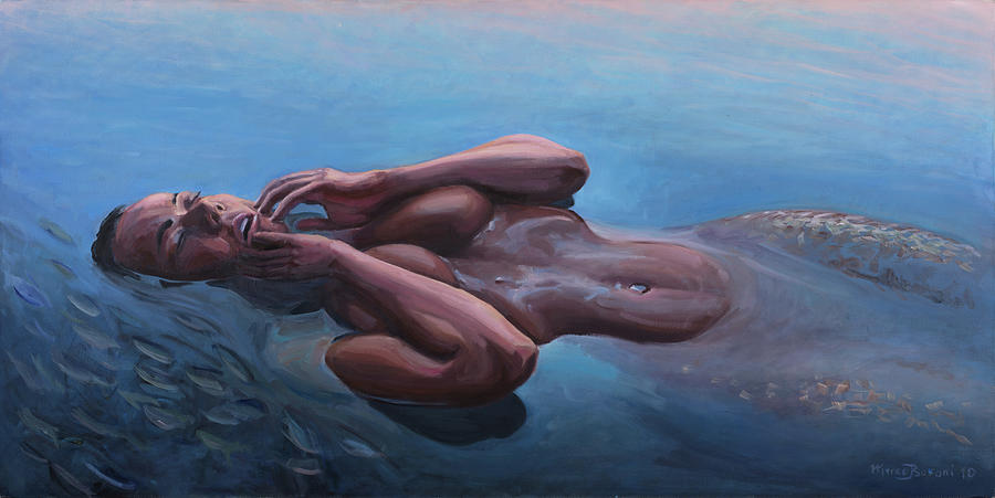 Lady Painting - The Dreaming Mermaid by Marco Busoni