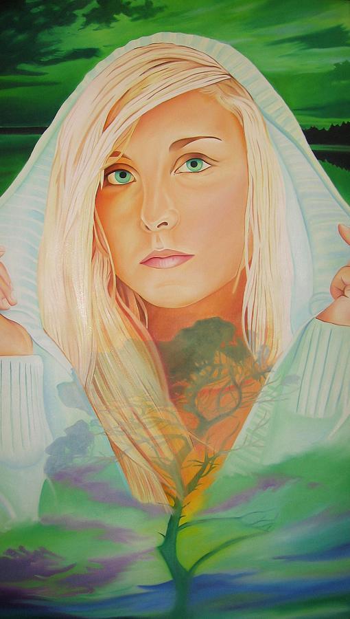Beautiful Woman Painting - The Dreaming Tree by Joshua Morton