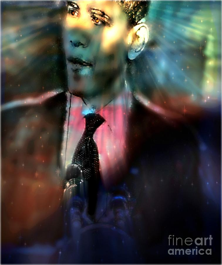 President Obama Painting - The Dreams Of Obama by Wbk