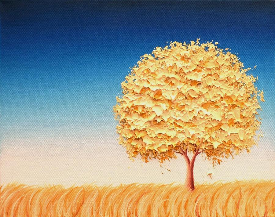 Golden Tree Painting - The Dreams We Carry by Rachel Bingaman