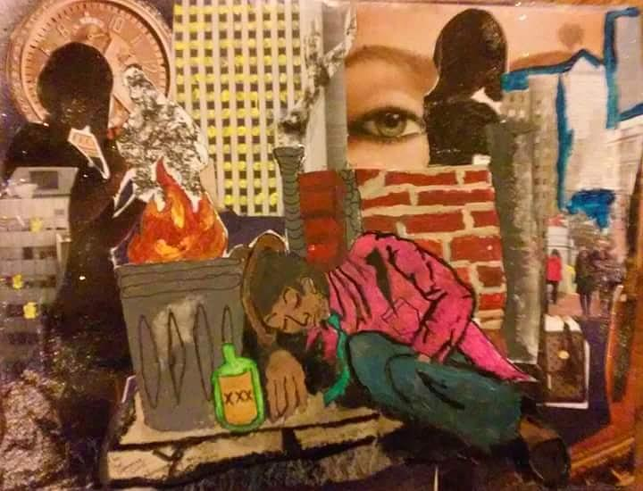 Hobo Mixed Media - The Drifter by Dele Akerejah
