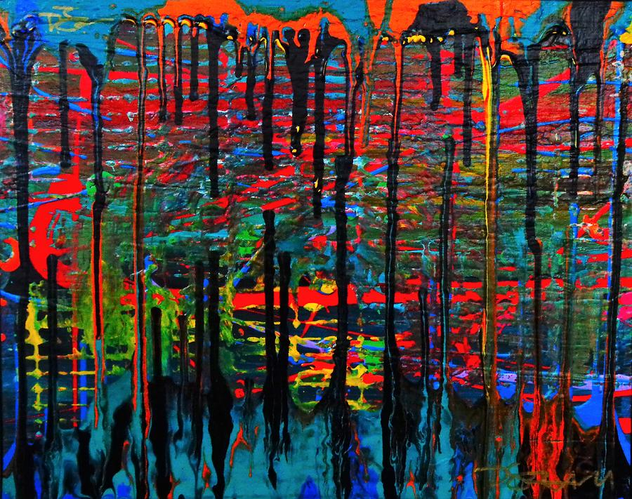 Multicolor Painting - The Drip by Dane Newton