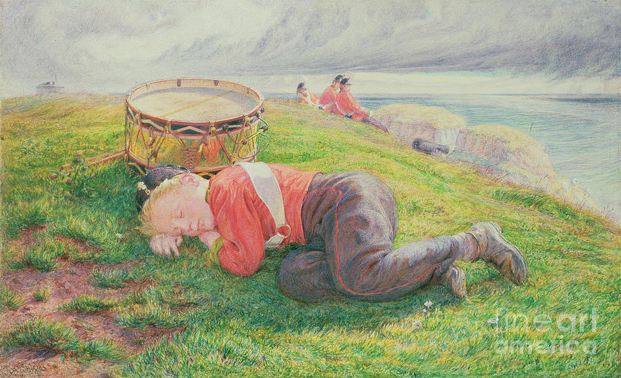 The Painting - The Drummer Boys Dream by Frederic James Shields