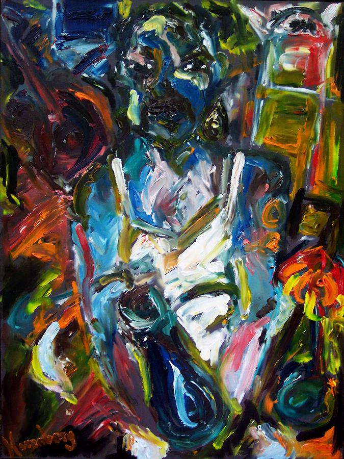 Portrait Painting - The Drunkard by R Harenberg