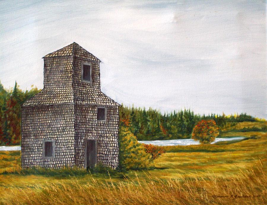 Barn Painting - The Drying Barn by Norman F Jackson