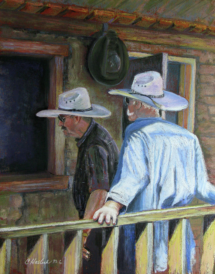 Western Pastel - The Dudes Window Shop by Carole Haslock