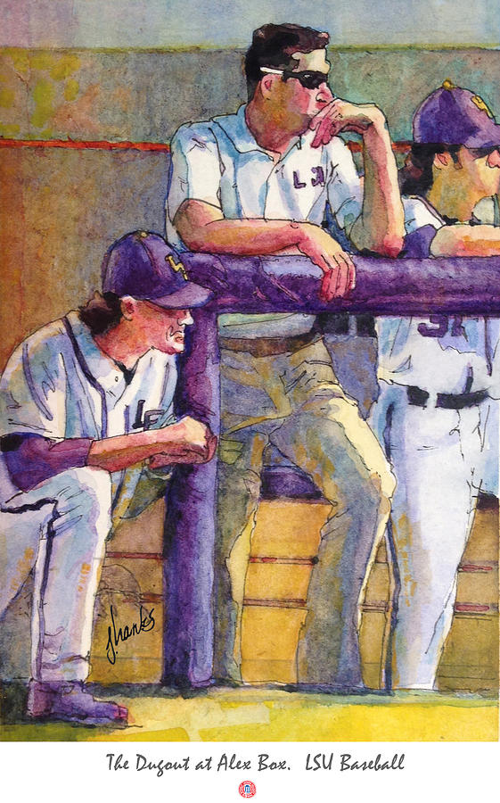 The Dugout At Alex Box Lsu Baseball Painting By Judy Hanks Stunning Lsu Bedroom Style Painting