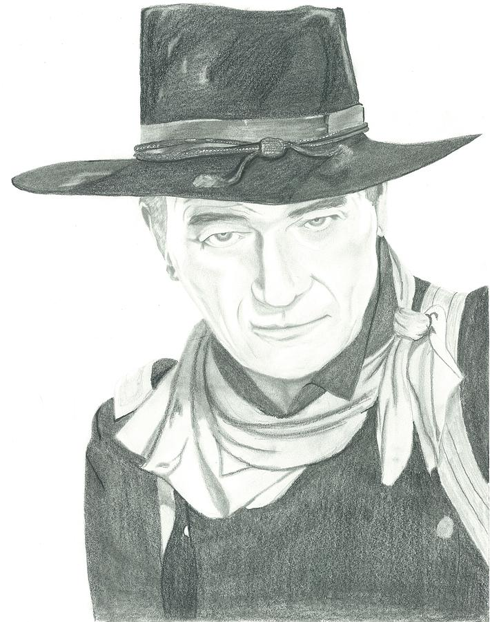 John Wayne Drawing - The Duke by Seventh Son