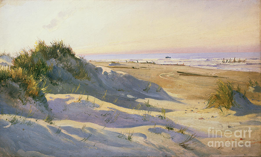 The Dunes Sonderstrand Skagen Painting By Holgar Drachman