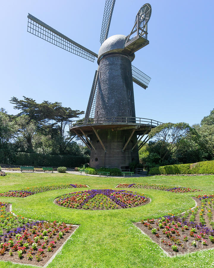 The Dutch Windmill San Francisco Golden Gate Park San Francisco California DSC6361 by San Francisco Art and Photography